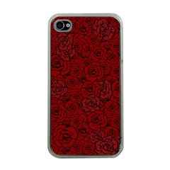 Red Roses Field Apple Iphone 4 Case (clear)