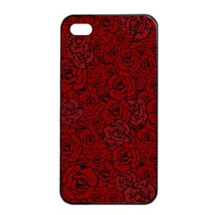 Red Roses Field Apple Iphone 4/4s Seamless Case (black)