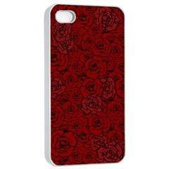 Red Roses Field Apple Iphone 4/4s Seamless Case (white) by designworld65