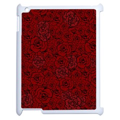 Red Roses Field Apple Ipad 2 Case (white)