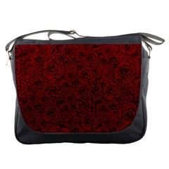 Red Roses Field Messenger Bags