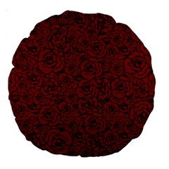 Red Roses Field Large 18  Premium Round Cushions