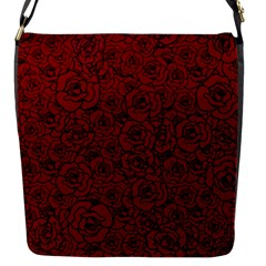 Red Roses Field Flap Messenger Bag (s)