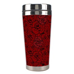 Red Roses Field Stainless Steel Travel Tumblers