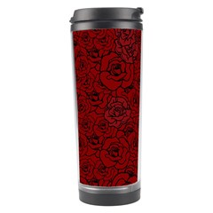 Red Roses Field Travel Tumbler