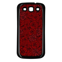 Red Roses Field Samsung Galaxy S3 Back Case (black)