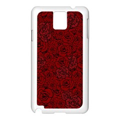 Red Roses Field Samsung Galaxy Note 3 N9005 Case (white)