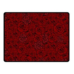 Red Roses Field Double Sided Fleece Blanket (small)