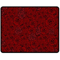 Red Roses Field Double Sided Fleece Blanket (medium)