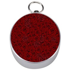 Red Roses Field Silver Compasses