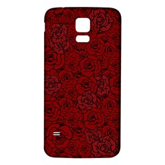Red Roses Field Samsung Galaxy S5 Back Case (white)