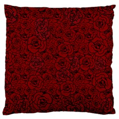 Red Roses Field Standard Flano Cushion Case (one Side) by designworld65