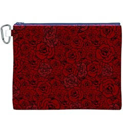 Red Roses Field Canvas Cosmetic Bag (xxxl) by designworld65