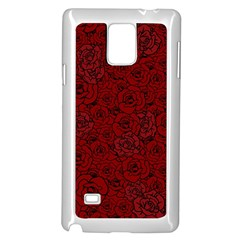 Red Roses Field Samsung Galaxy Note 4 Case (white)
