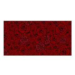 Red Roses Field Satin Shawl