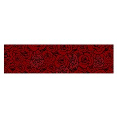 Red Roses Field Satin Scarf (oblong)