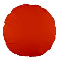 Trendy Basics   Trend Color Flame Large 18  Premium Flano Round Cushions by tarastyle