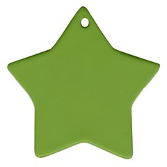 Trendy Basics   Trend Color Greenery Star Ornament (two Sides) by tarastyle