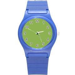 Trendy Basics   Trend Color Greenery Round Plastic Sport Watch (s) by tarastyle