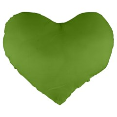 Trendy Basics   Trend Color Greenery Large 19  Premium Flano Heart Shape Cushions by tarastyle