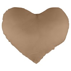 Trendy Basics   Trend Color Hazelnut Large 19  Premium Flano Heart Shape Cushions by tarastyle
