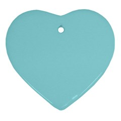 Trendy Basics   Trend Color Island Paradise Ornament (heart) by tarastyle