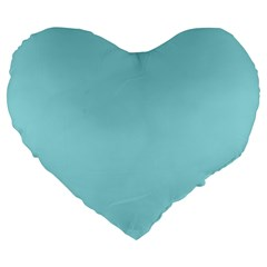 Trendy Basics   Trend Color Island Paradise Large 19  Premium Flano Heart Shape Cushions by tarastyle