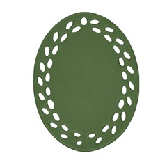 Trendy Basics   Trend Color Kale Ornament (oval Filigree) by tarastyle