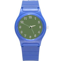 Trendy Basics   Trend Color Kale Round Plastic Sport Watch (s) by tarastyle