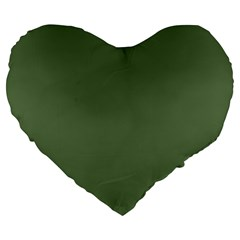 Trendy Basics   Trend Color Kale Large 19  Premium Flano Heart Shape Cushions by tarastyle