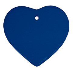 Trendy Basics   Trend Color Lapis Blue Ornament (heart) by tarastyle
