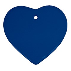 Trendy Basics   Trend Color Lapis Blue Heart Ornament (two Sides) by tarastyle