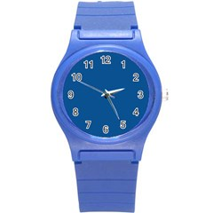 Trendy Basics   Trend Color Lapis Blue Round Plastic Sport Watch (s) by tarastyle