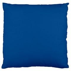 Trendy Basics   Trend Color Lapis Blue Large Cushion Case (one Side) by tarastyle