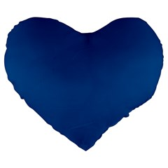 Trendy Basics   Trend Color Lapis Blue Large 19  Premium Flano Heart Shape Cushions by tarastyle