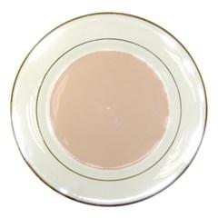Trendy Basics   Trend Color Pale Dogwood Porcelain Plates by tarastyle