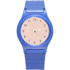 Trendy Basics   Trend Color Pale Dogwood Round Plastic Sport Watch (s) by tarastyle