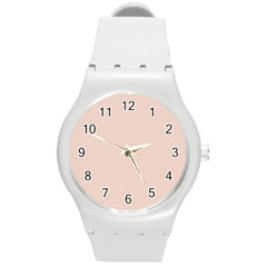 Trendy Basics   Trend Color Pale Dogwood Round Plastic Sport Watch (m) by tarastyle