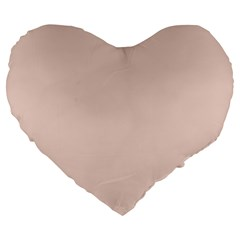 Trendy Basics   Trend Color Pale Dogwood Large 19  Premium Flano Heart Shape Cushions by tarastyle