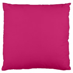 Trendy Basics   Trend Color Pink Yarrow Large Flano Cushion Case (two Sides)