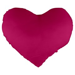 Trendy Basics   Trend Color Pink Yarrow Large 19  Premium Flano Heart Shape Cushions by tarastyle