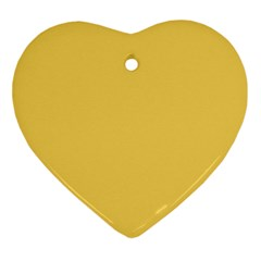 Trendy Basics   Trend Color Primerose Yellow Ornament (heart) by tarastyle