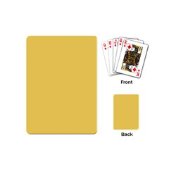 Trendy Basics   Trend Color Primerose Yellow Playing Cards (mini)  by tarastyle