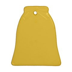Trendy Basics   Trend Color Primerose Yellow Bell Ornament (two Sides) by tarastyle
