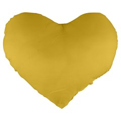Trendy Basics   Trend Color Primerose Yellow Large 19  Premium Flano Heart Shape Cushions by tarastyle