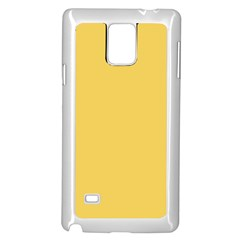 Trendy Basics   Trend Color Primerose Yellow Samsung Galaxy Note 4 Case (white) by tarastyle