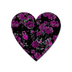 Floral Dreams 12 A Heart Magnet by MoreColorsinLife