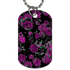 Floral Dreams 12 A Dog Tag (two Sides) by MoreColorsinLife