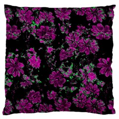 Floral Dreams 12 A Large Flano Cushion Case (two Sides)