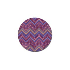 Colorful Ethnic Background With Zig Zag Pattern Design Golf Ball Marker (4 Pack) by TastefulDesigns
